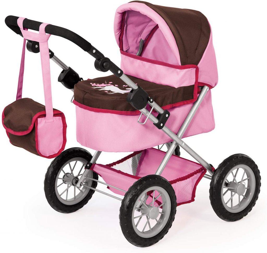 La carrozzina per bambole di design Bayer è disponibile in vari colori con diversi motivi.