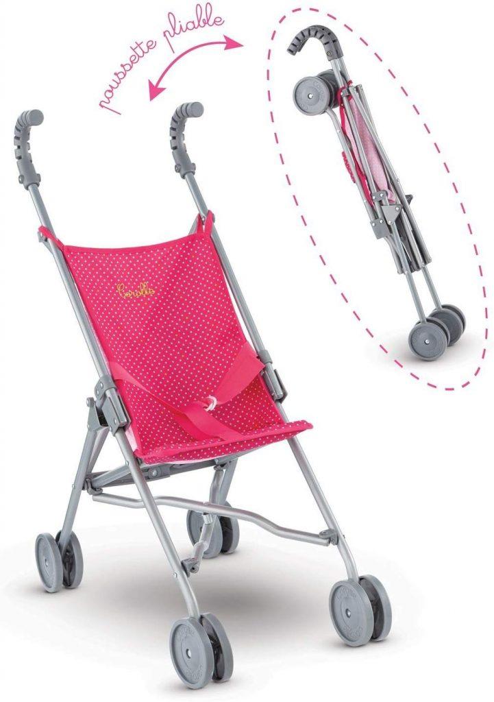 Questo passeggino per bambole Corolle può contenere un bambino da 36 a 42 cm.