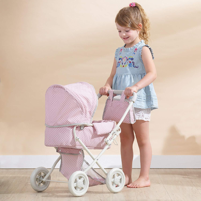 La carrozzina giocattolo permette al bambino di giocare a mamma e papà mentre cammina con il suo bambino.