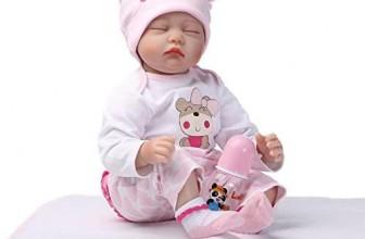 Bambola reborn occhi chiusi